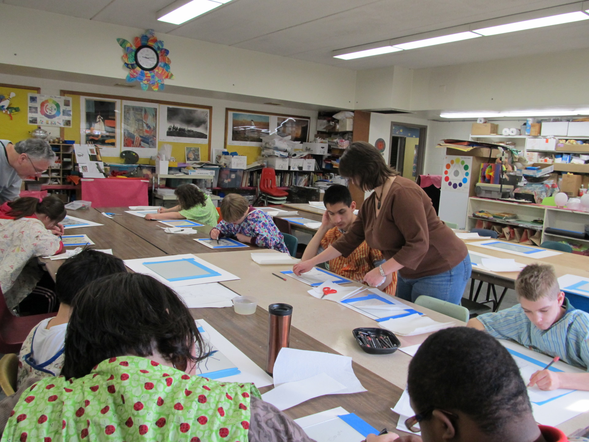 Art class at St Coletta Day School